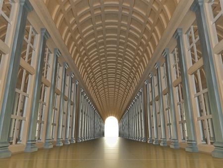 light columns: corridor