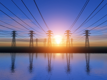 electrical tower: power line