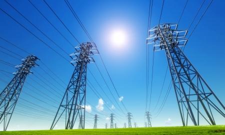 torres de alta tension: la línea de alimentación