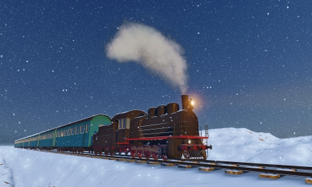 christmas train: locomotive