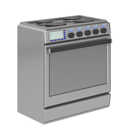 electric stove on a white background photo