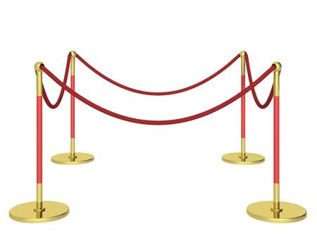 roped: barrera sobre un fondo blanco