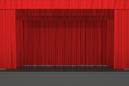 red stage curtain: stage Stock Photo
