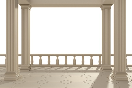 columns: building Stock Photo