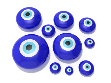 Evil eye amulet on a white background Stock Photo