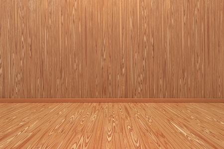 empty wooden room photo