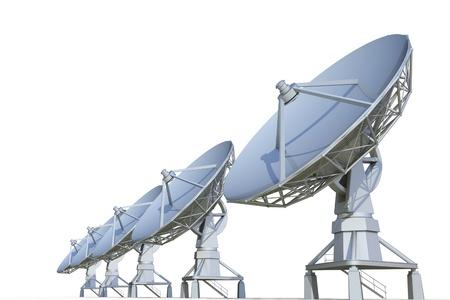 parabolic: radar on a white background