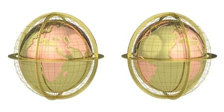 globe on a white background Stock Photo - 18312472