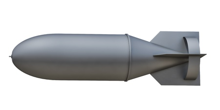 bomb: aerial bomb on a white background