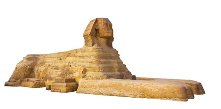 Sphinx: sphinx on a white background Stock Photo