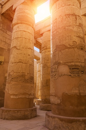 Ancient ruins in the temple of Karnak  Luxor, Egypt Stock Photo - 18335821
