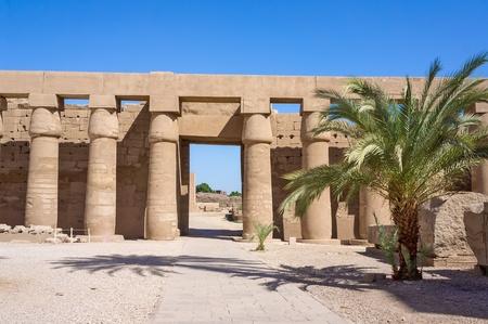 obelisk stone: Ancient ruins in the temple of Karnak  Luxor, Egypt