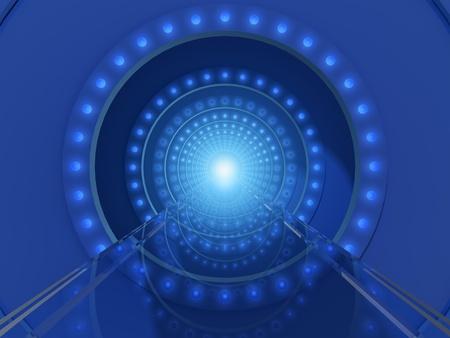 blue tunnel Stock Photo