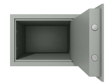 open safe on a white background Stock Photo - 19060068