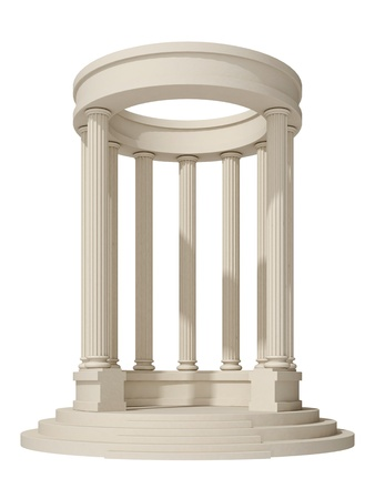 arbor: rotunda on a white background Stock Photo