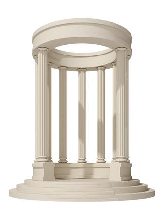 rotunda: rotunda on a white background Stock Photo