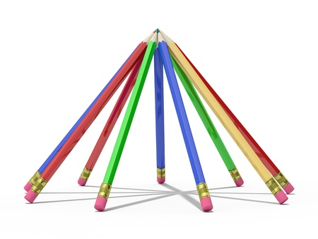 pencils on a white background Stock Photo - 19479751