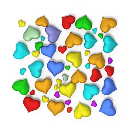 hearts on a white background Stock Photo - 20331929