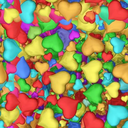 Seamless texture of hearts Stock Photo - 20331934