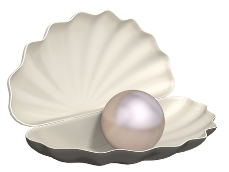 pearl on a white background Stock Photo - 20324413