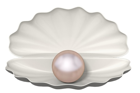 pearl on a white background photo
