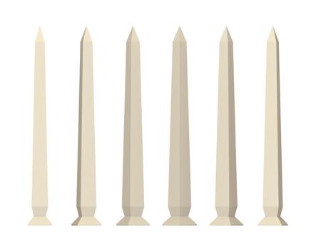 obelisk on a white background