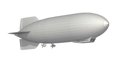 airship on a white background Stock Photo