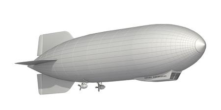 airship on a white background Stock Photo