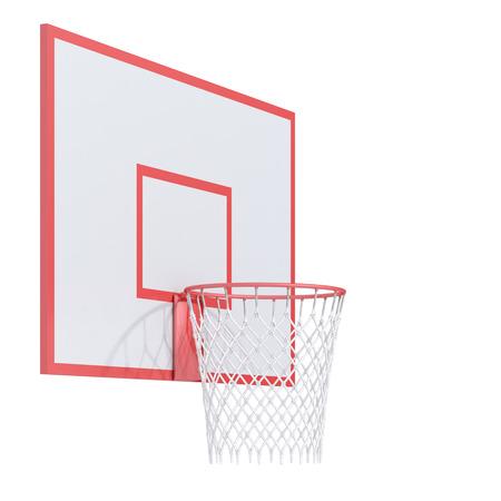 basketball net: basketball on a white background Stock Photo