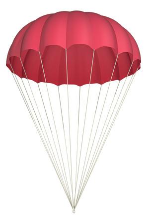fallschirm: Fallschirm auf einem wei�en Hintergrund