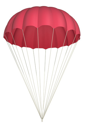 parachute on a white background Stock Photo