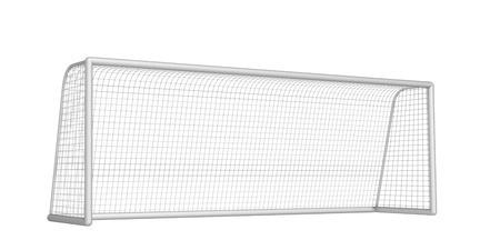 soccer net: soccer goal on a white background