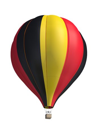 belgium flag: hot air balloon on a white background