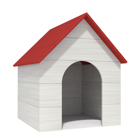kennel: doghouse on a white background