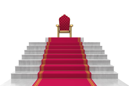 throne: stairs on a white background Stock Photo