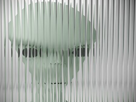 alien behind the glass Stock Photo - 23359279