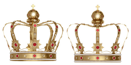 白い背景の上の王冠 写真素材