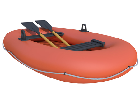 inflatable boat: inflatable boat on a white background