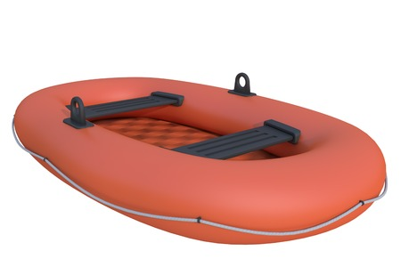 lifeboat: inflatable boat on a white background