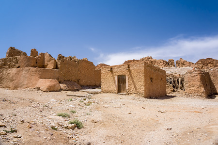 hut: village in the Middle East Stock Photo
