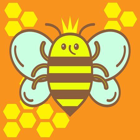 abeja reina: cartoon queen bee. royal queen bee
