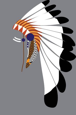Native American tribal chiefs headdress from the  feathers.