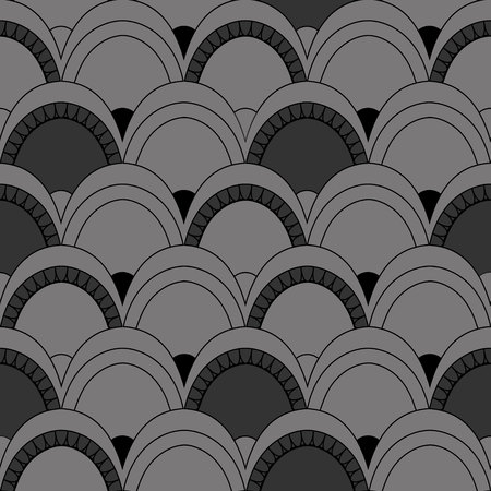 regular: Seamless pattern of fish scales. Gray universal background with animal scales. Beautiful background for your design Illustration