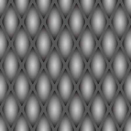 A sample of a seamless texture of a reptile's skin. Convex scales in gray tones. 向量圖像