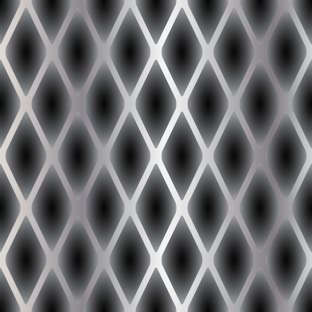 A sample of a seamless texture of a reptiles skin. Convex scales in black tones with steel vertical stripes.