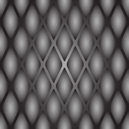 A sample of a seamless texture of a reptiles skin. Convex scales in gray tones with an oval bulge in the center.
