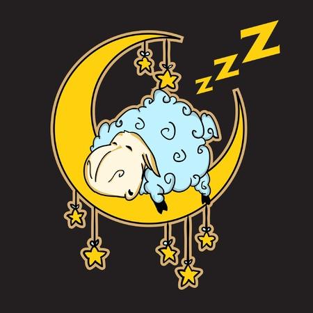 good night: sleeping Illustration