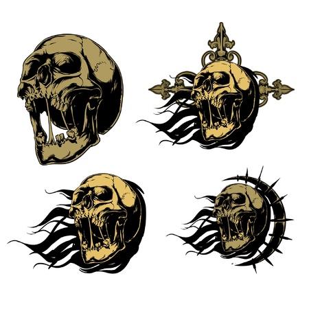 Skulls Stock Vector - 9131424