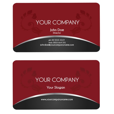 red cards: Elegant business card