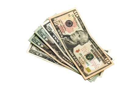 American dollars with nominal value ten and twenty Stock Photo